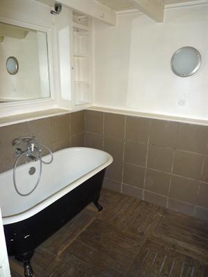 salle de bain - bois au sol Viens chez moi Pinterest