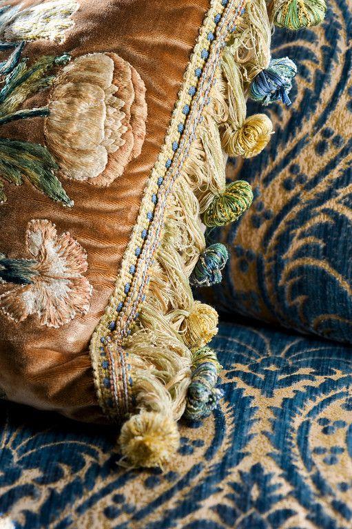 French Antique Pillows via Linda Floyd