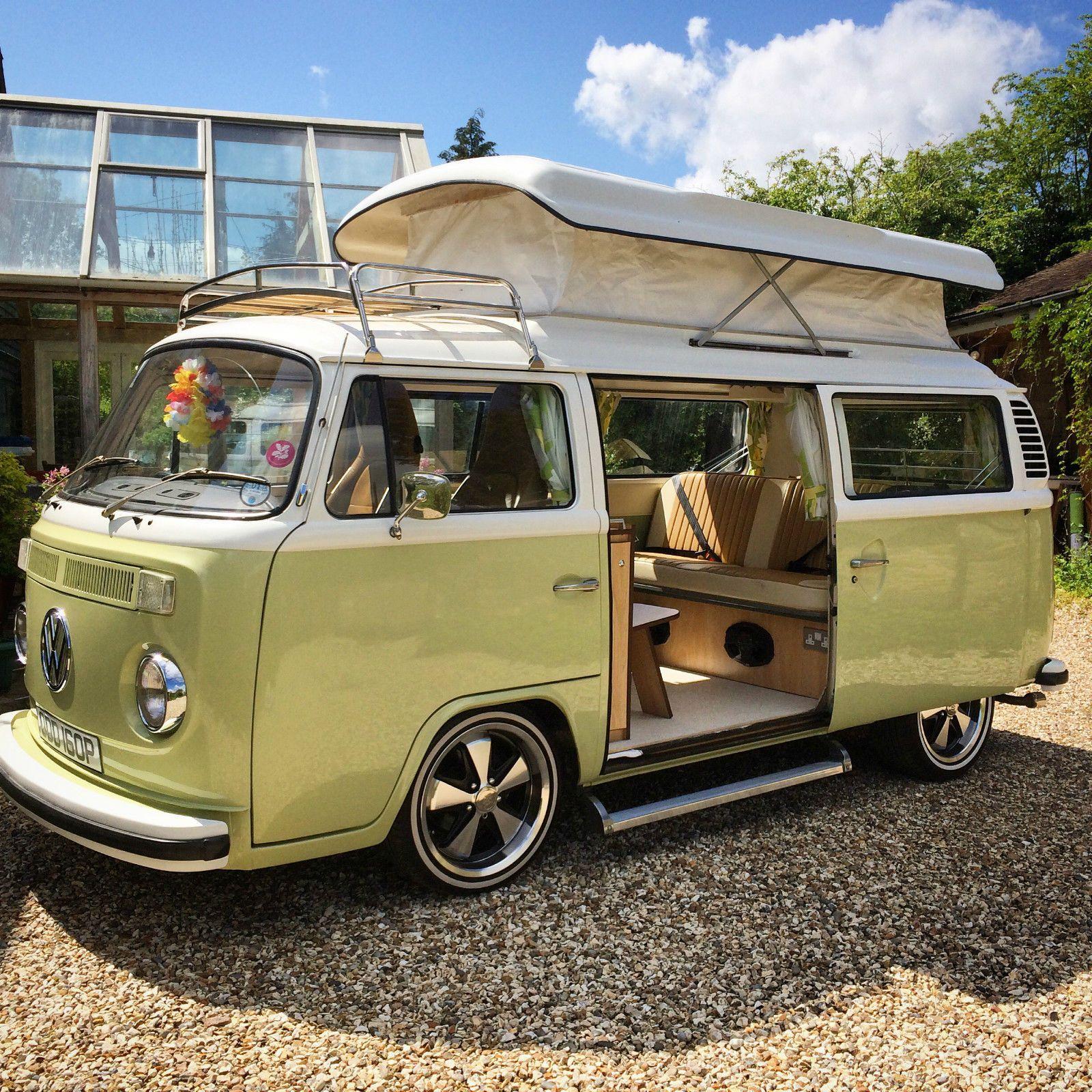 details about volkswagen bay window camper van vw type 2. Black Bedroom Furniture Sets. Home Design Ideas