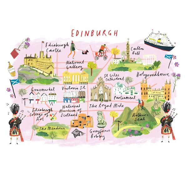 The Daily Hunt | ARTWORK | Edinburgh, Edinburgh for kids, Map