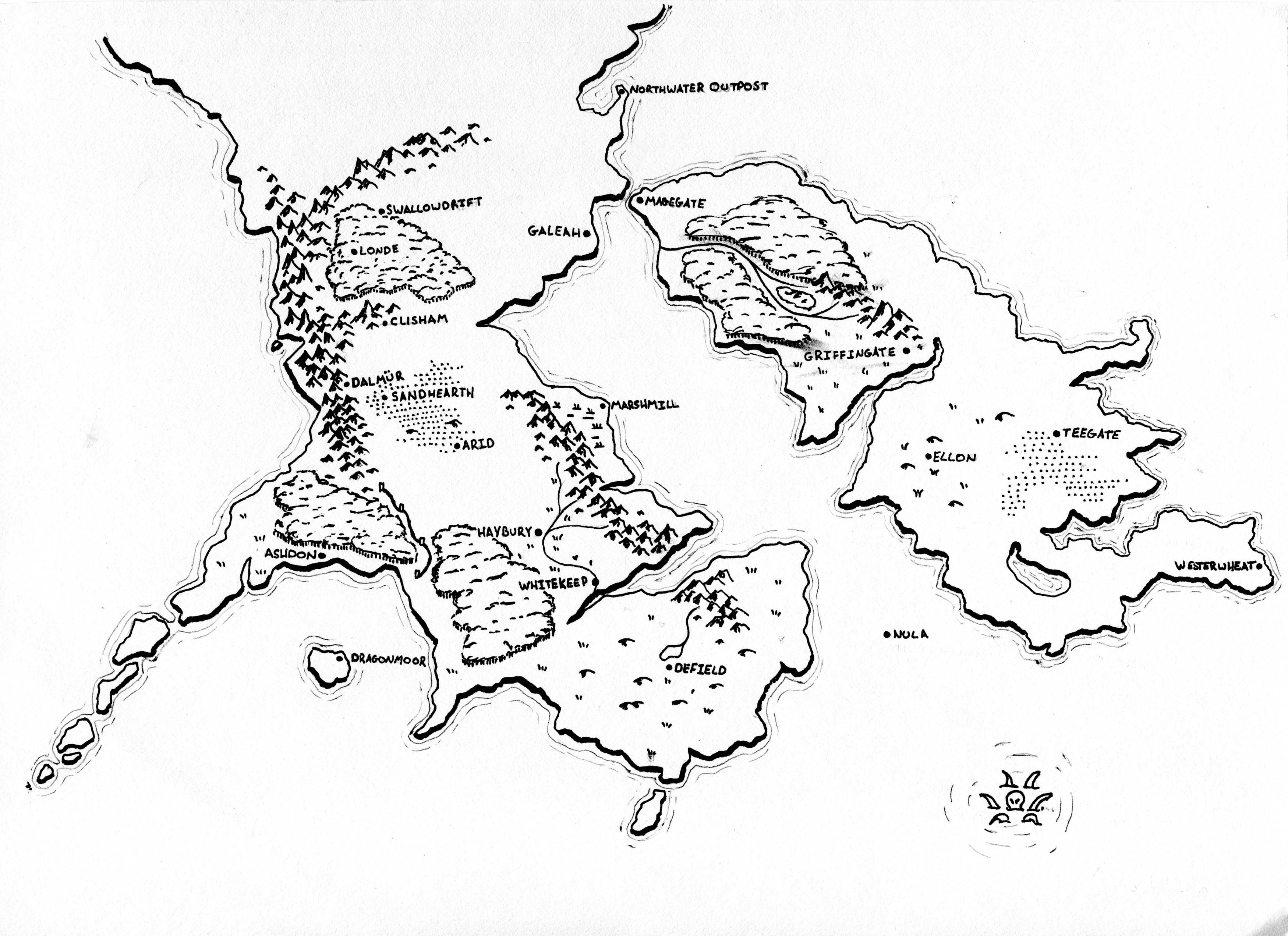 Homebrew campaign map | Maps in 2019 | Map, Fantasy map, Drawings