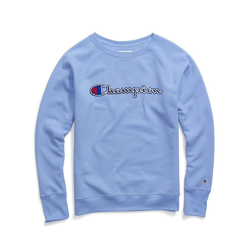 Champion Women S Powerblend Fleece Boyfriend Crewneck Sweatshirt Felt Logo W2956f Y07461 Sweatshirts Boyfriend Sweatshirts Womens Fleece [ 1000 x 1000 Pixel ]