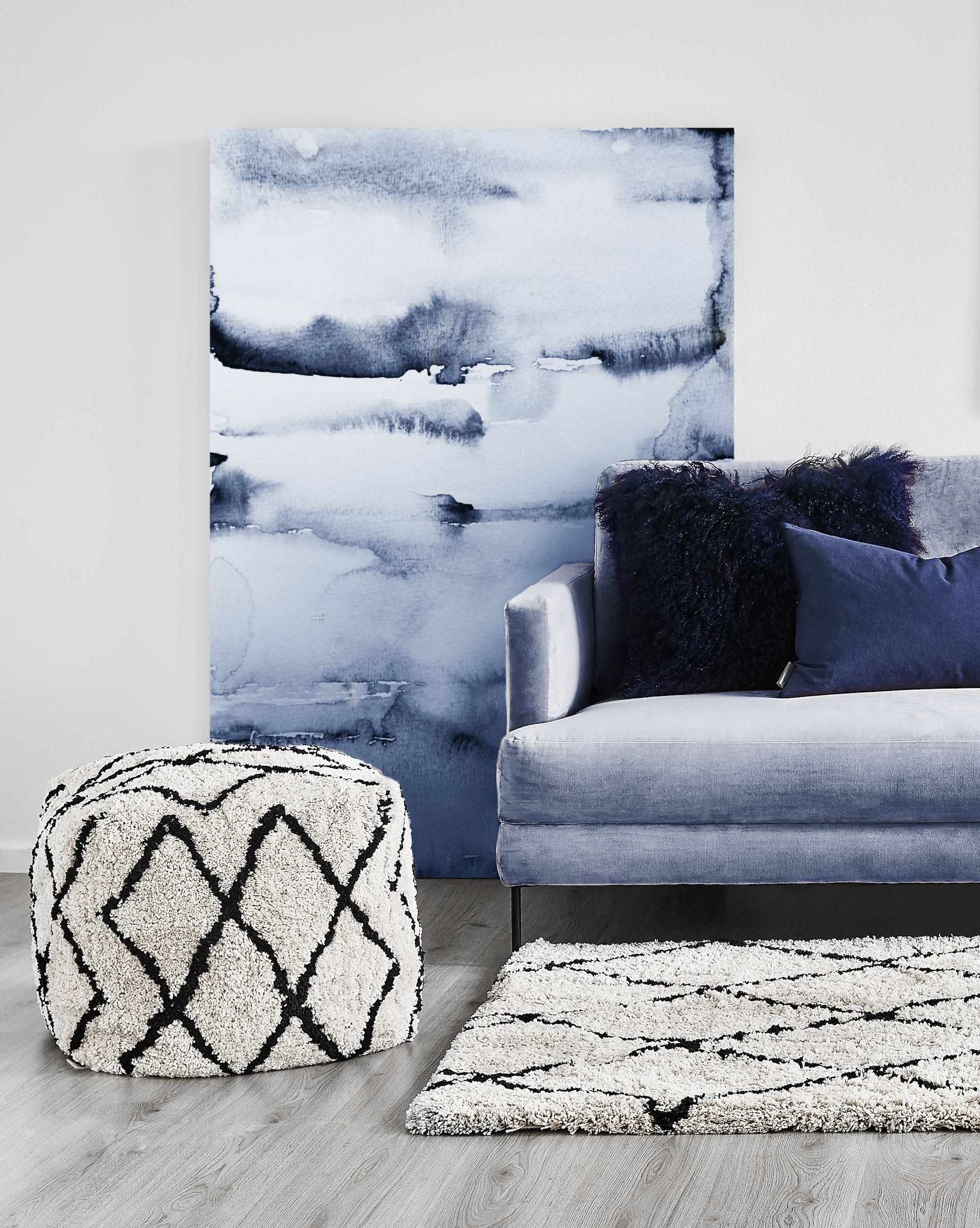 Blau is beautiful! Ein Wohnzimmer in Blautönen passt perfekt zum ...
