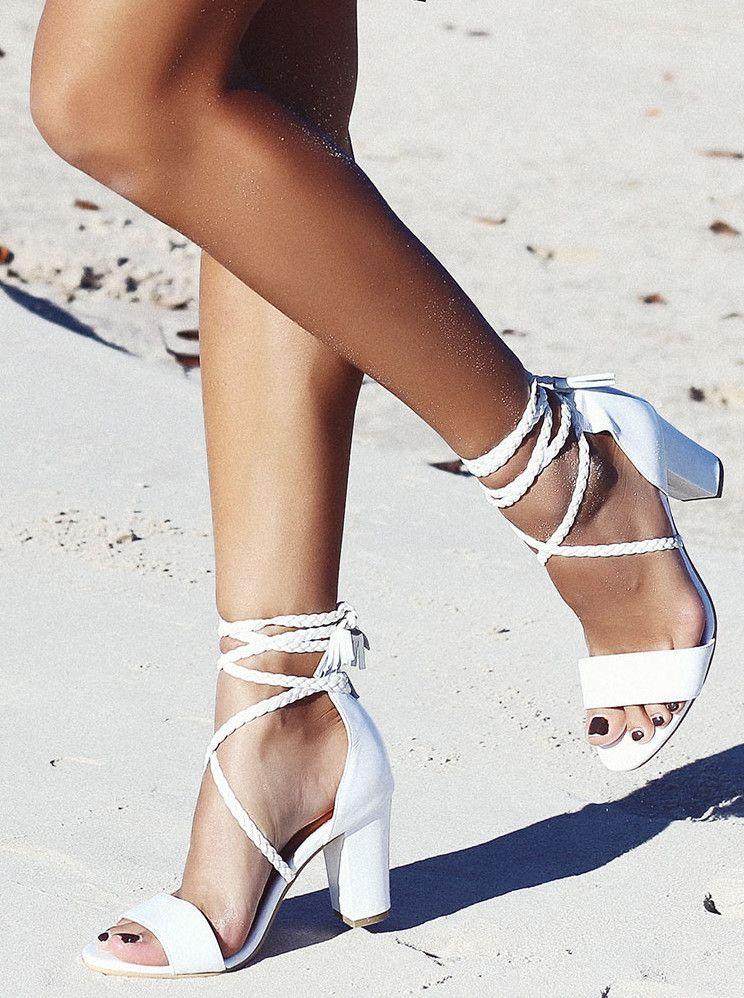 8b7ce13db4e4 Peace and love tassel sandal - white in 2019