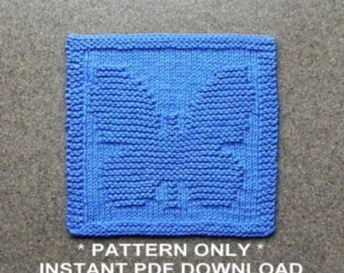 Sunflower Dishcloth Pattern Pdf Instant Download Knit Wash Cloth