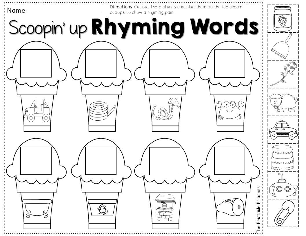 Rhyming Word Practice Summer Theme Perfect For The End Of The Year Review Rhyming Activities Teaching Fun Math Center Activities [ 816 x 1056 Pixel ]