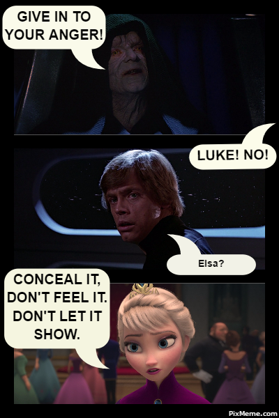 Star Wars Frozen Story Meme By Missagent E On Pinterest Memes Storymemes Frozen Elsa Queenelsa Concealdontfeel Star Wars Memes Funny Memes Frozen Story
