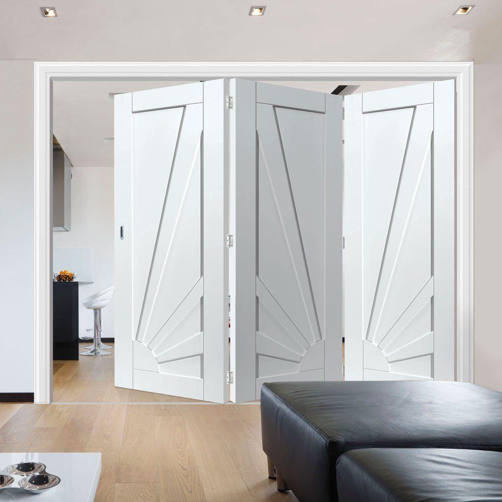 Thrufold calypso aurora shaker white folding door doors