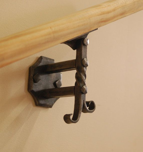 Wall Mounted Handrail or Banister Bracket - Forged by a Blacksmith