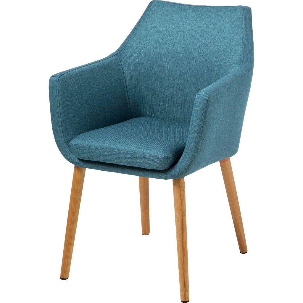 CARRYHOME ARMLEHNSTUHL Webstoff Blau | Küche und Esszimmer > Stühle ...