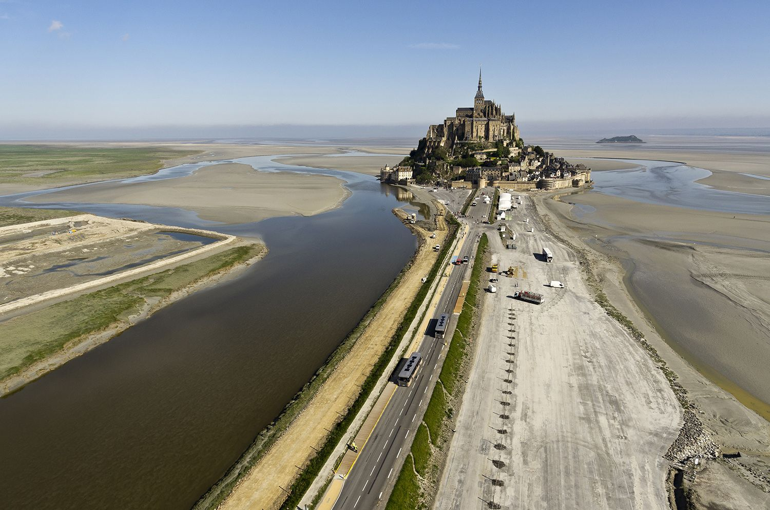 Mont St Michel, France - low tide
