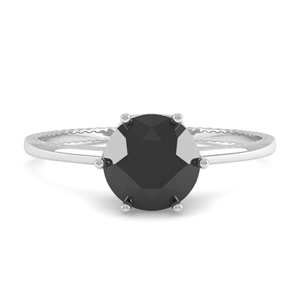 Details about ct natural black diamond solitaire engagement