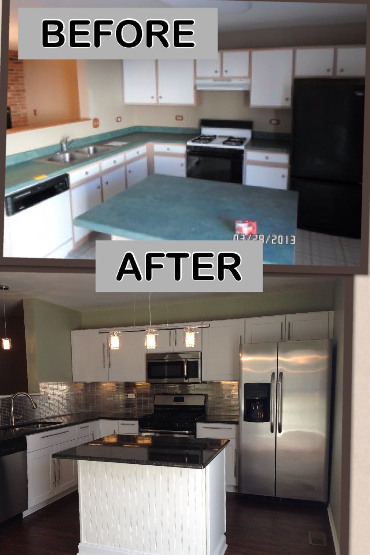 Kitchen remodel on a budget everything brand new for for Budget kitchen cupboards