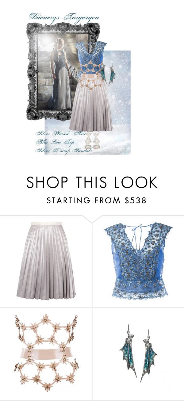 Daenerys Targaryen by golden-eclipse on Polyvore featuring mode, Alberta Ferretti, Antipodium and Sergio Rossi