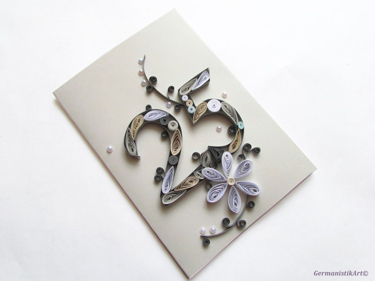Happy th birthday card blank quilling card th anniversary