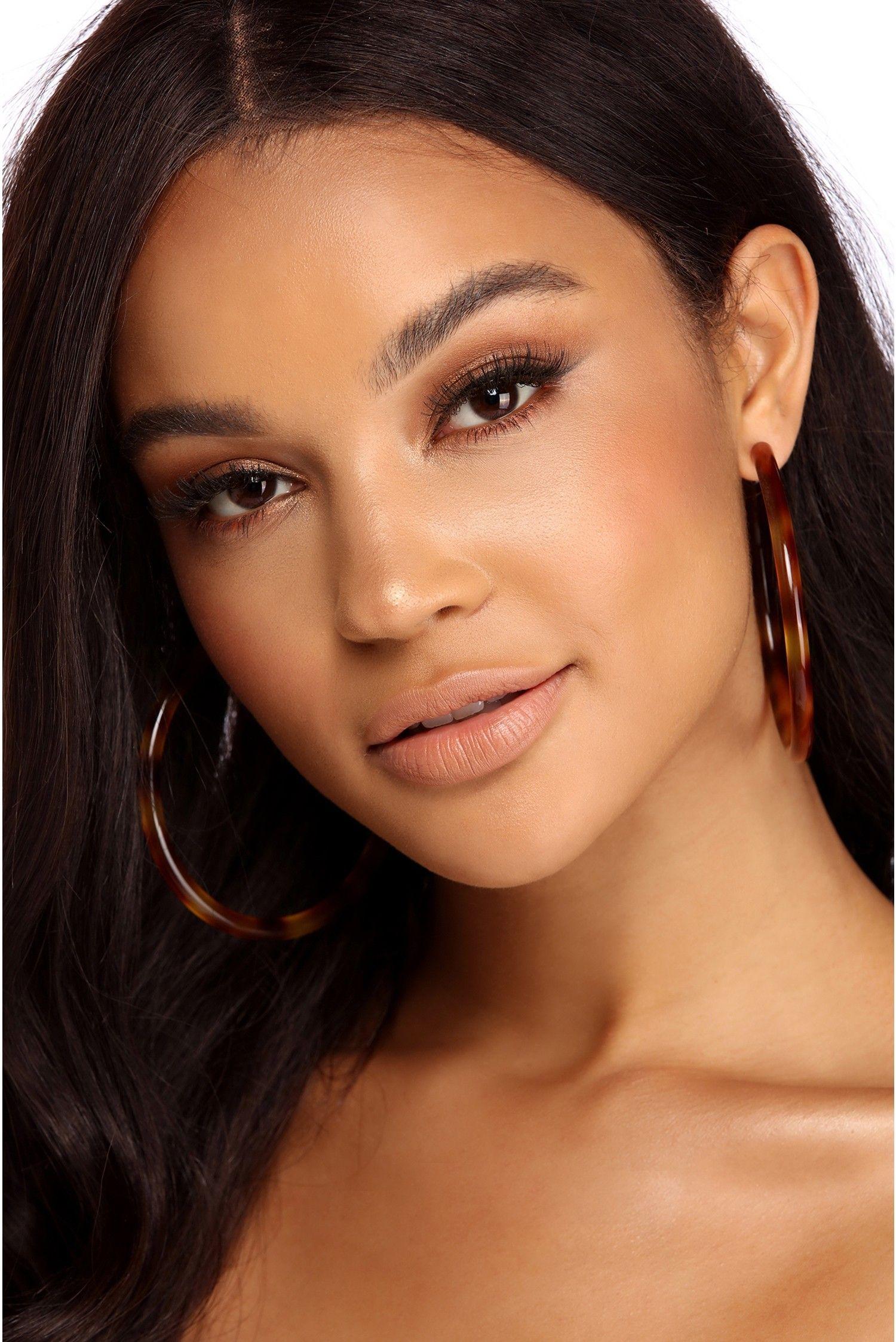 Beautifully Bold Resin Hoops Wedding makeup tips, Makeup