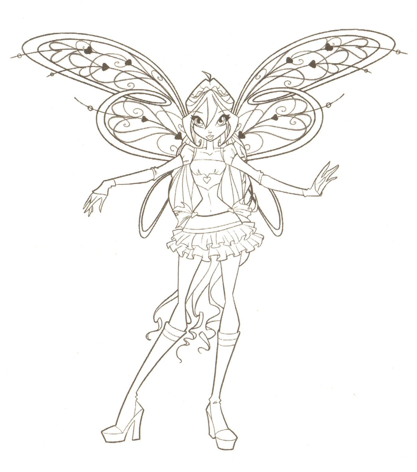 Free printable winx club coloring pages - Fairies To Print And Color Winx Club Coloring Pages Winxclub Photo 18537794 Printable Valentinefree