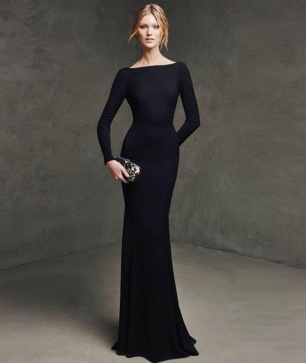 Vestidos de fiesta de noche color negro