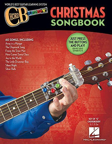Chord Buddy 128841 Guitar Method Christmas Songbook 60 Holiday Songs Color Coded For Playing With The Unique Chord Bud Christmas Songbook Learn Guitar Guitar
