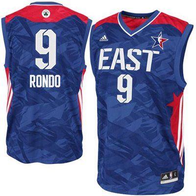the latest 3e8e4 fd65b adidas Rajon Rondo NBA 2013 East All-Star Replica Jersey ...