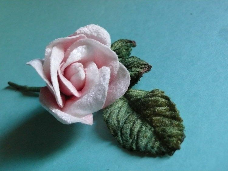 Small Pink Velvet Millinery Rose for Corsages, Floral Supply, Crafting. $4.25, via Etsy.