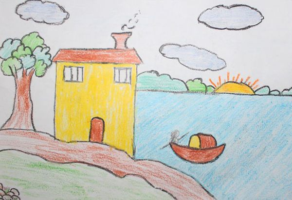 explore kid drawings beautiful homes and more - Kids Drawings