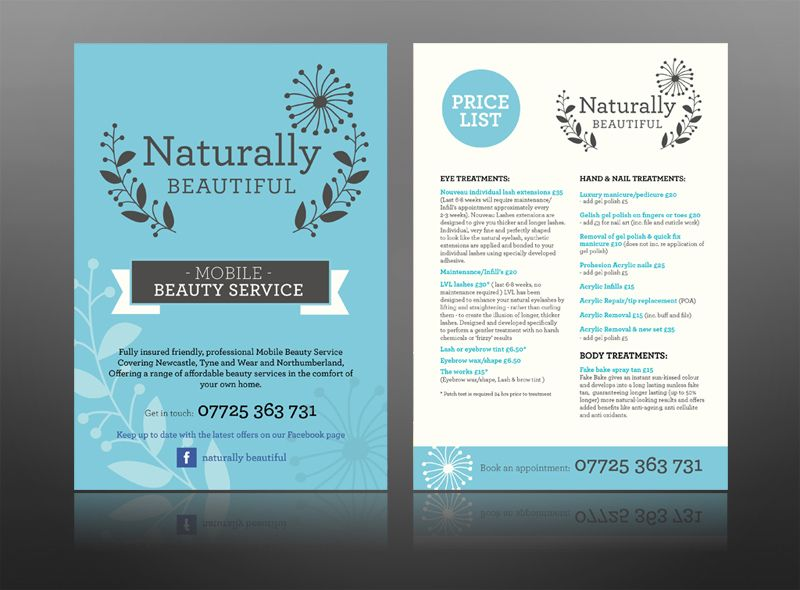 naturally beautiful spa leaflet health beauty vintage