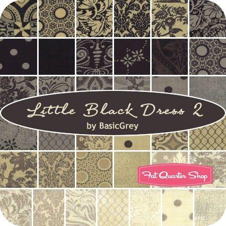 Little Black Dress 2 Charm Packbasicgrey For Moda Fabrics Charm