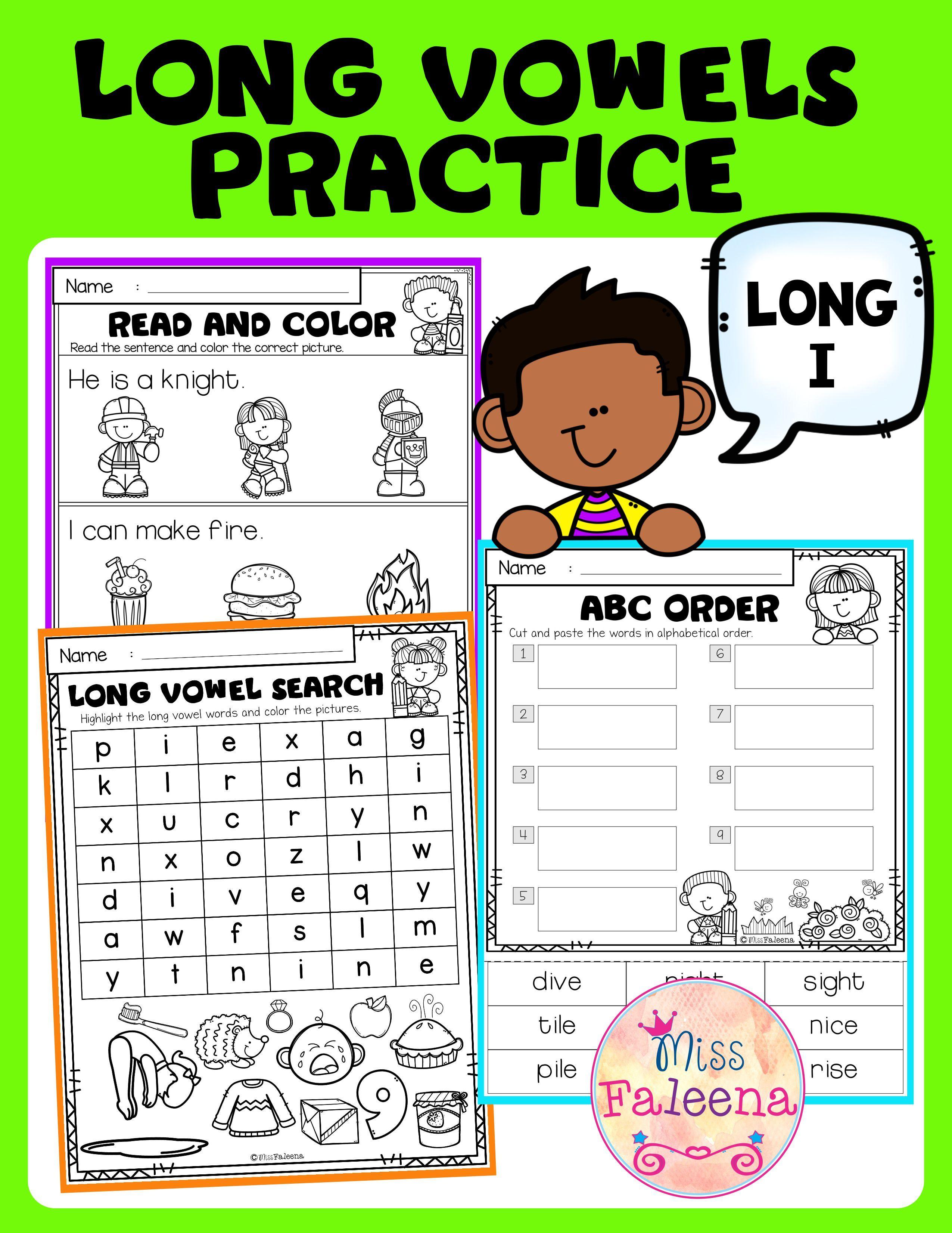 Long Vowel Practice Long I Vowel Practice Writing Sight Words Nonsense Words [ 3300 x 2550 Pixel ]