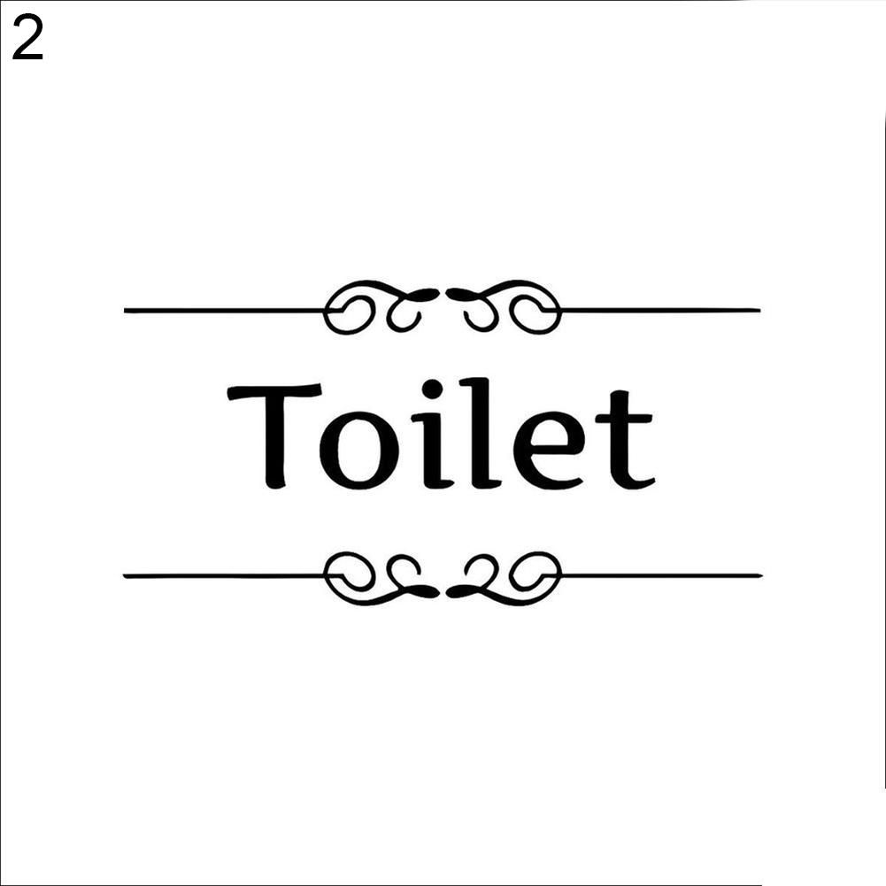 Photo of Removable Waterproof Bathroom Toilet Door Wall Decal Sticker Home DIY Decor – as the picture u