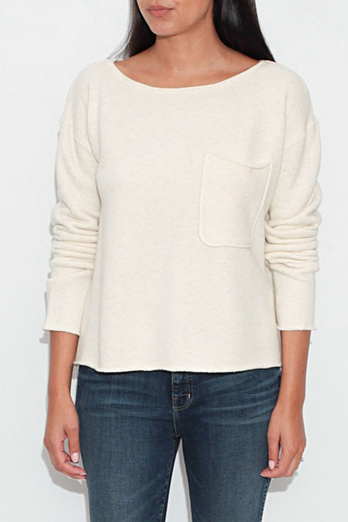Natural Terry Boatneck Pullover From ShopHeist.com!