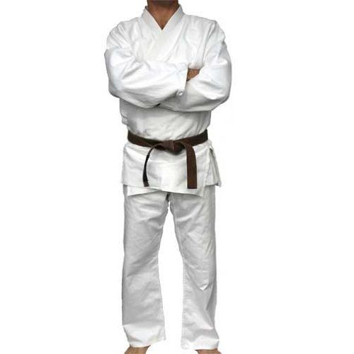 """Judo / Jiu-Jitsu / Aikido Shock Wave Uniform (Single Weave Drawstring Waist), 4 or A2 by Piranha Gear. $71.99. The sizing on this uniform may not be what you're expecting. PLEASE be sure to check our size charts to make sure you're going to get a good fit as we want to save you the trouble of doing an exchange. Though we DO have the best exchange policy in the industry!  This is a single weave, """"bleached white"""" gi for Judo, Jiu-Jitsu and Aikido. This gi has a traditional """"rice-..."""