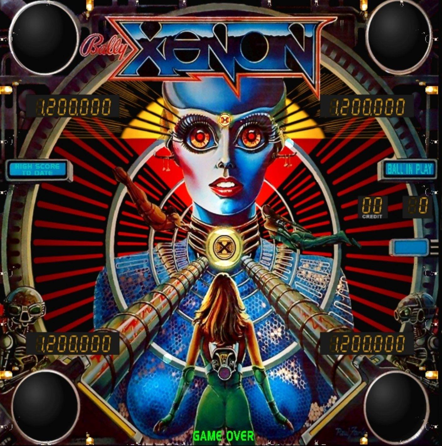 Xenon Pinball Machine (1980) Pinball art, Pinball game