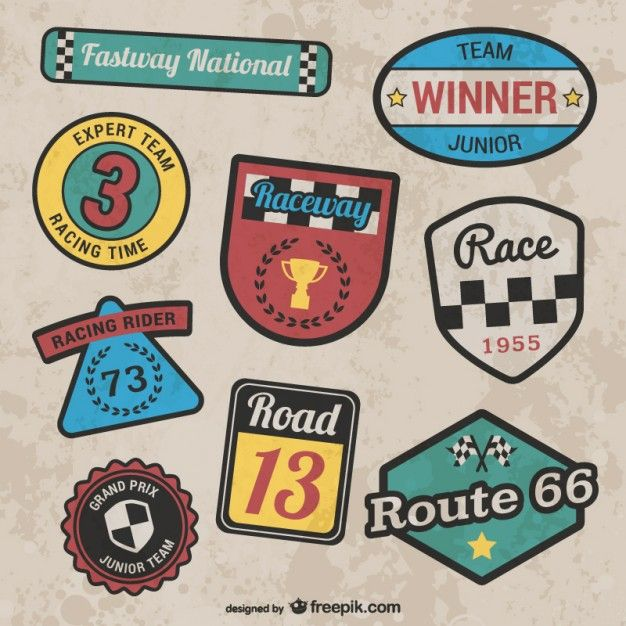 Download Retro Style Racing Stickers For Free In 2020 Racing Stickers Vintage Racing Racing