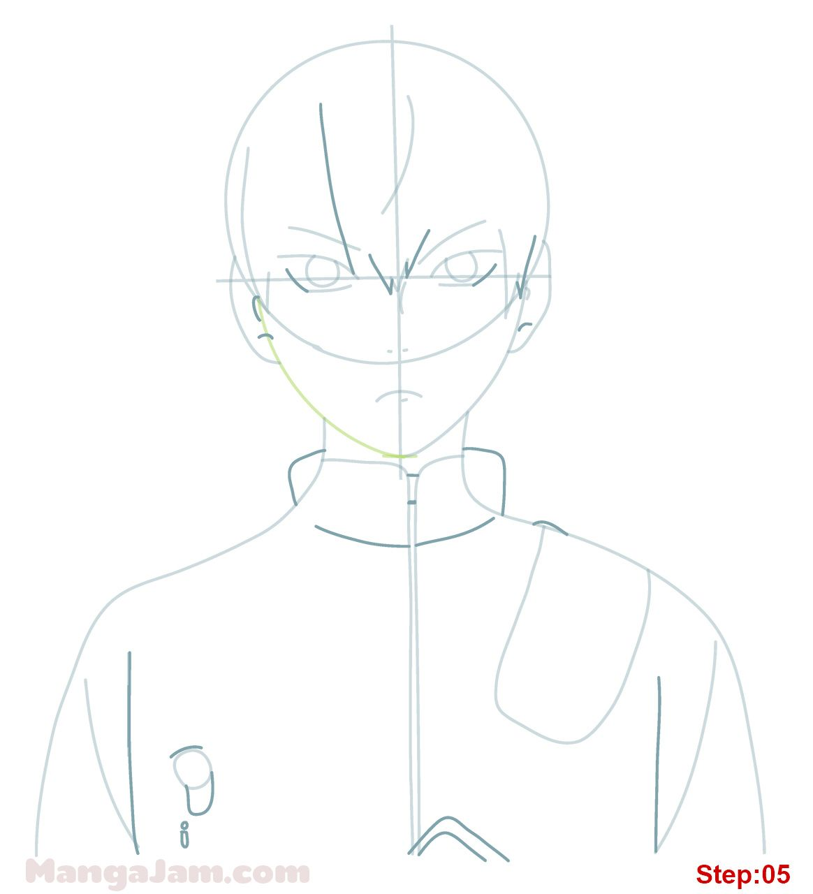 How To Draw Tobio Kageyama From Haikyuu Mangajam Com In 2020 Kageyama Haikyuu Anime Character Drawing