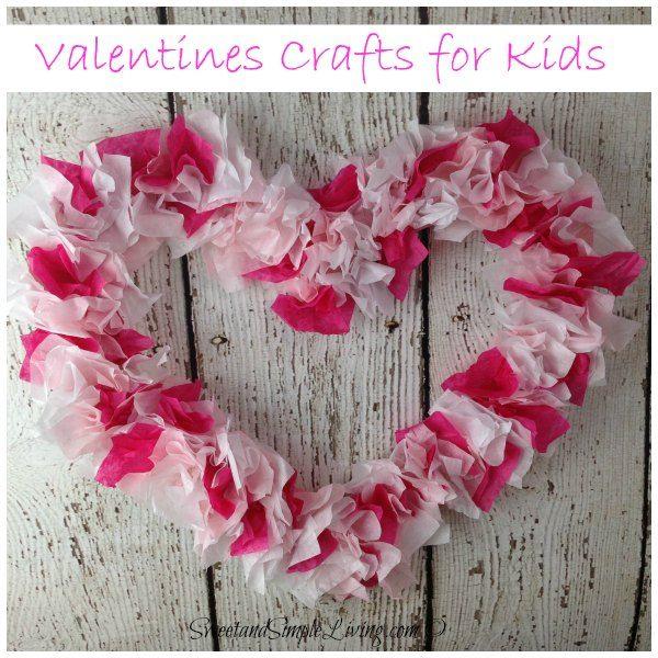 valentines crafts for kids tissue paper heart
