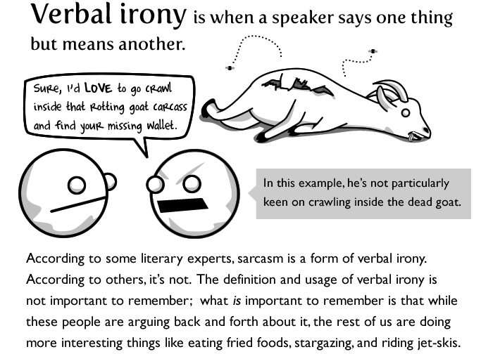 A Definition Of Verbal Irony Plus An Example Verbal