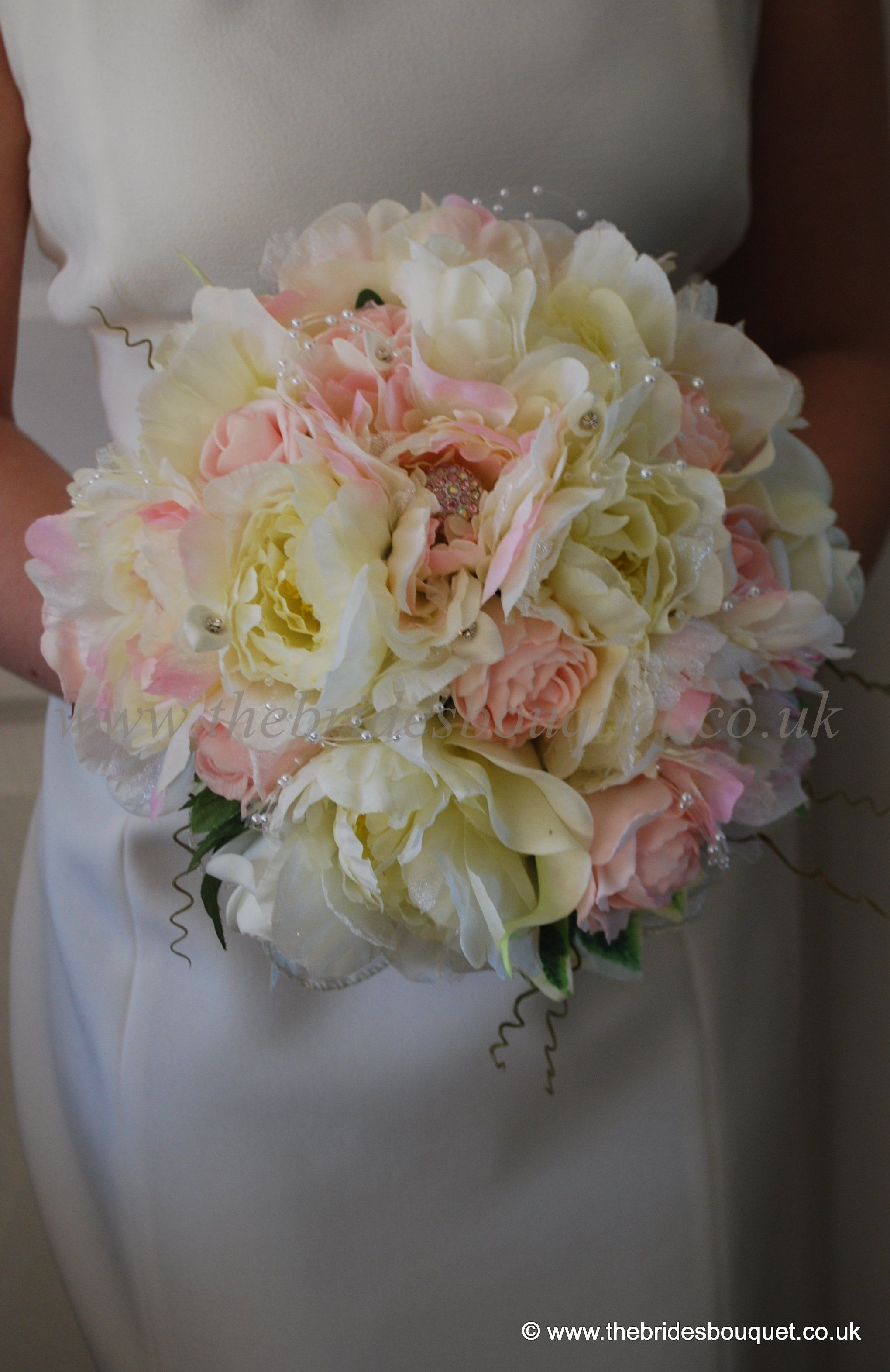 Peony Silk Wedding Flowers Vintage Style Bridal Posy Of Artificial