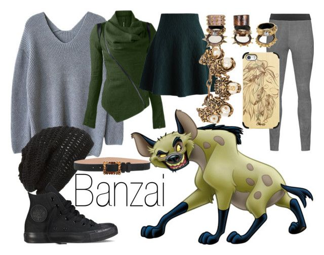 """Banzai~ DisneyBound"" by basic-disney ❤ liked on Polyvore featuring King & Fifth Supply Co., Converse, Dsquared2, Chicwish, Casetify and Gucci"