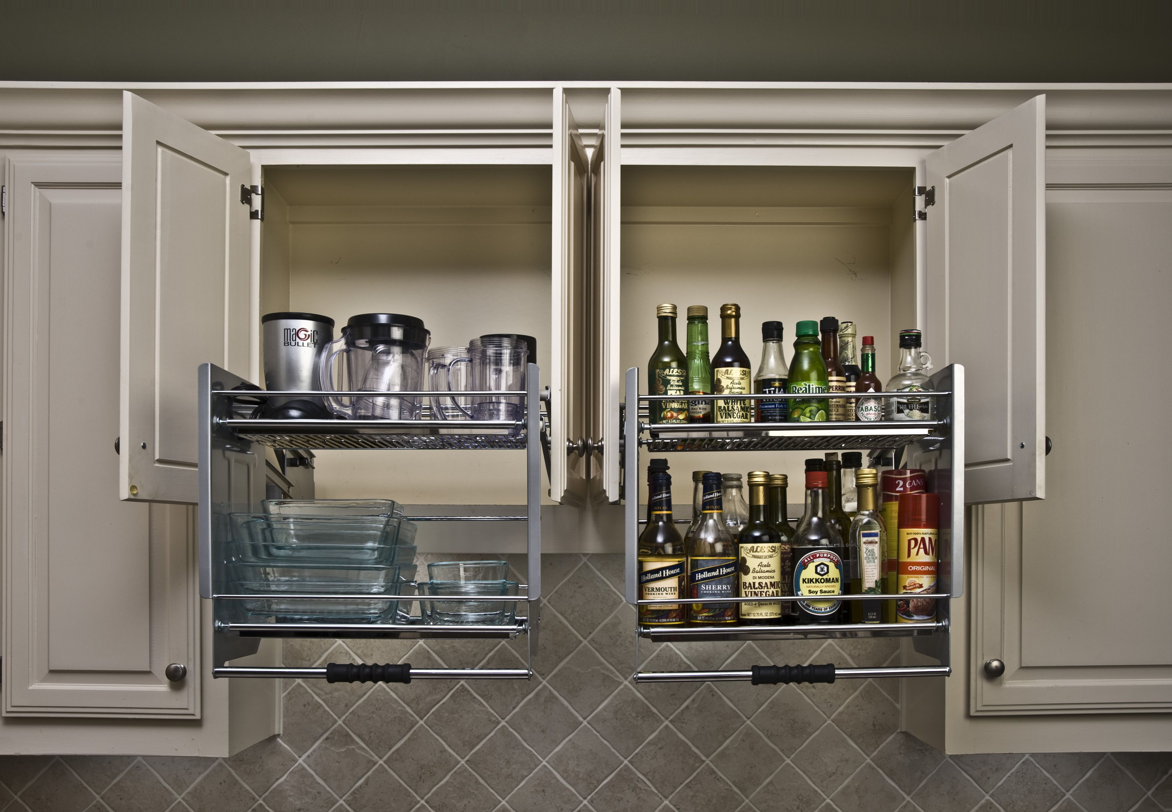 Kitchen Shelves Instead Of Cabinets Shelf Genie Pull Down Shelves Finally A Solution For