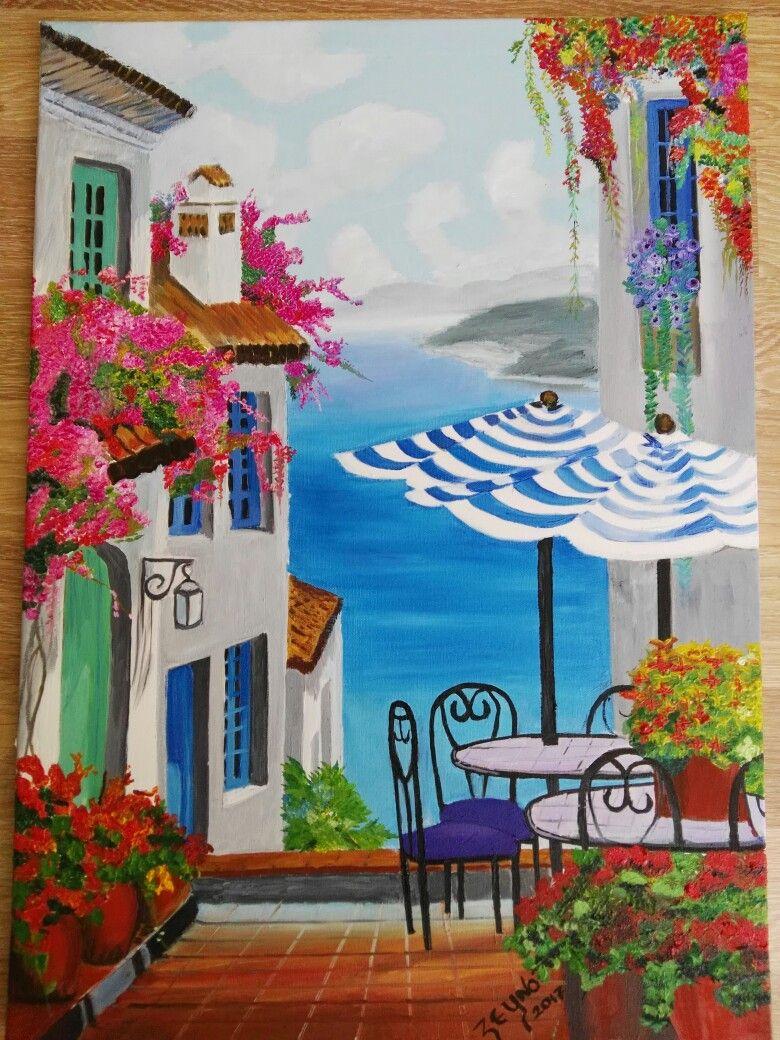 Son Yaptigim Calisma 50x70 Tuval Uzerine Yagli Boya Tablolar Resim Resim Sanati