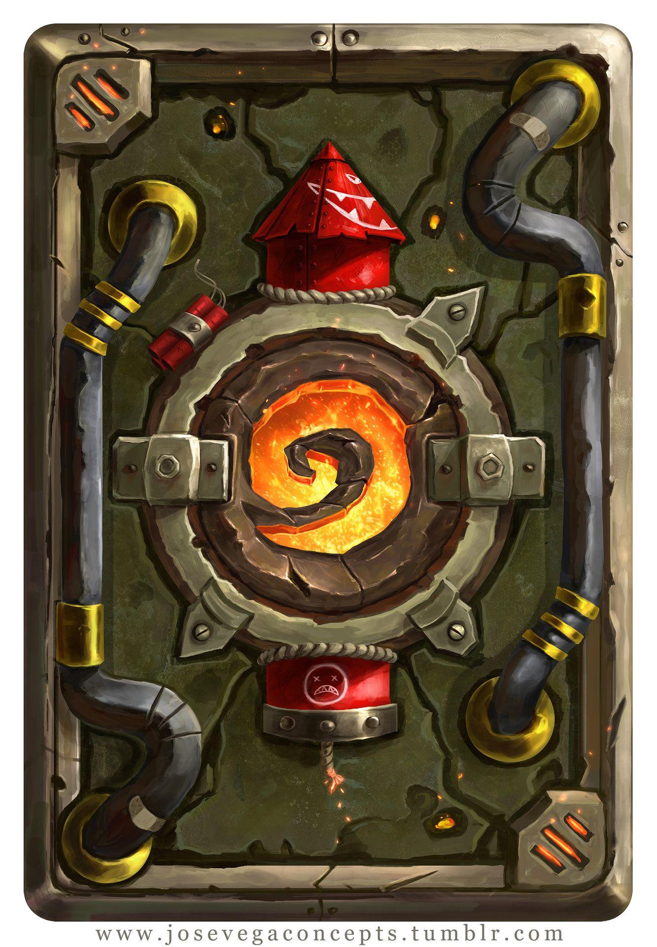 Artstation goblin card back jose vega 2d game art