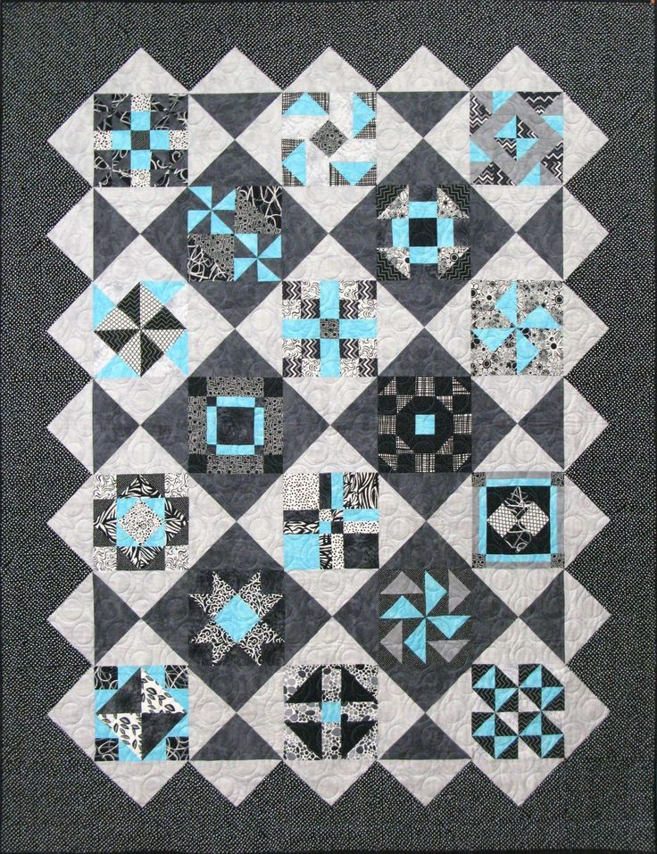 Shades Of Gray Quilt Pattern.. CHECK OUT QUITING TUTORIAL VIDEOS ... : quilt video - Adamdwight.com