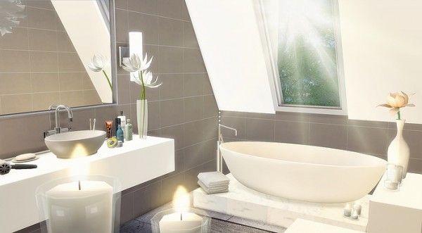 Caeley sims attic bathroom sims 4 downloads sims 4 for Bathroom ideas sims 4