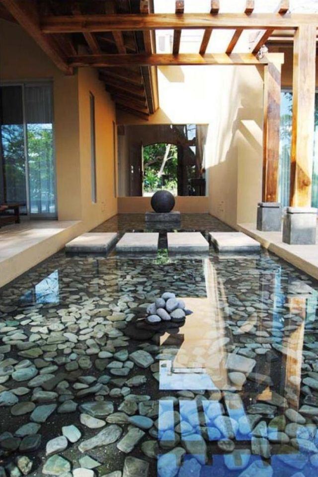 stein wasser garten-verlegen trittsteine ideen-landschaft design,