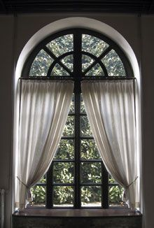 How To Dress A Arched Window View Topic How Do You Blind Cover