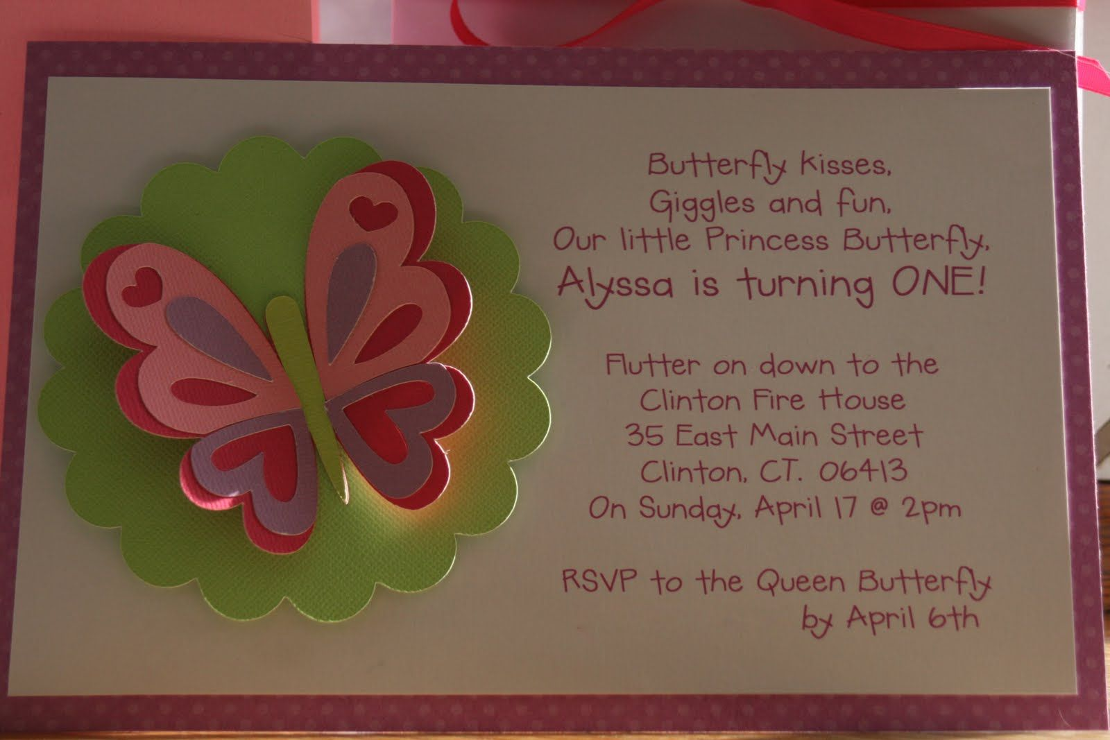 KT Designs Birthday Series Butterfly Party Invitations