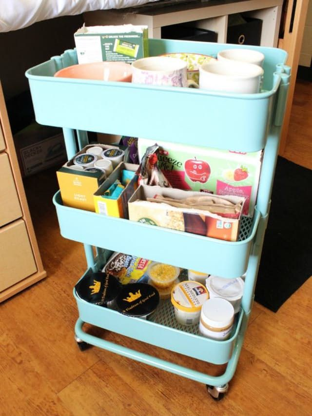 A dozen tips for a super organized dorm room dorm room - College dorm storage ideas ...