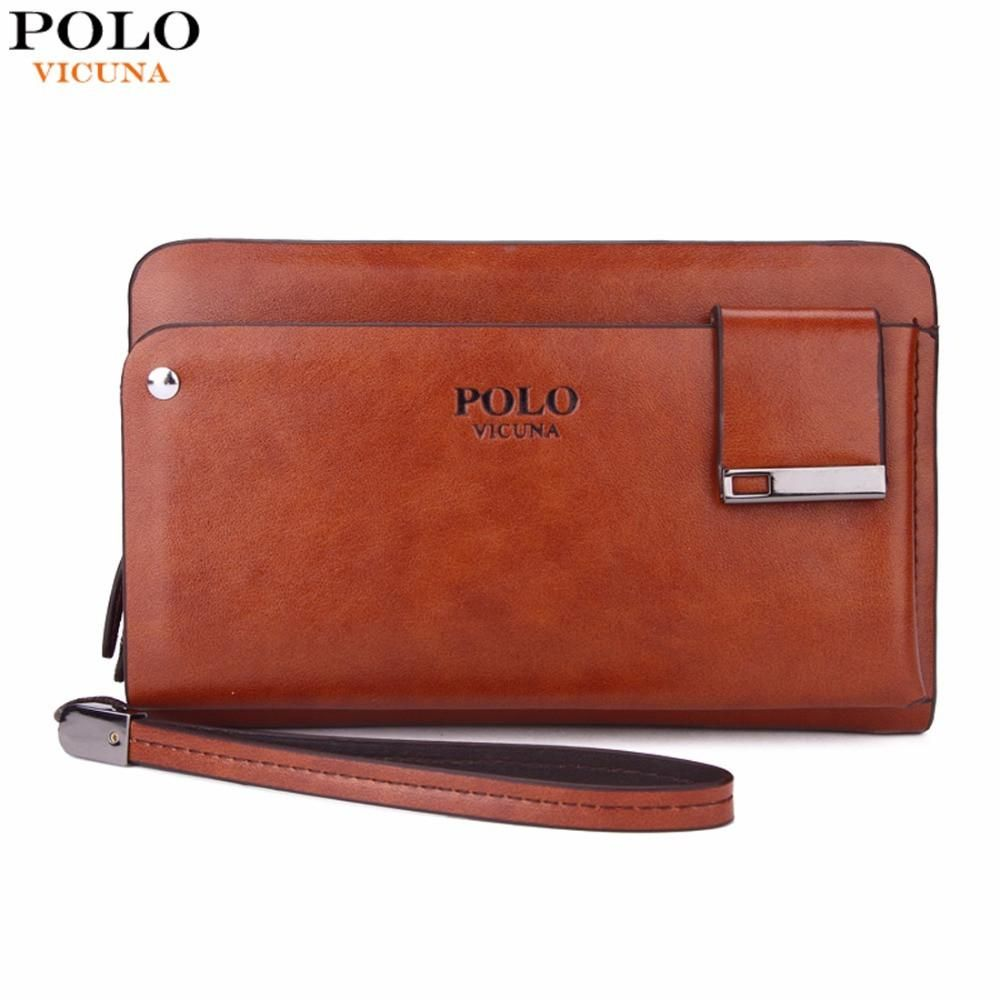 VICUNA POLO New Arrival High Capacity Leather Men s Clutch Wallet With  Rotatable Card Holder Famous Brand a719ace70c4c4