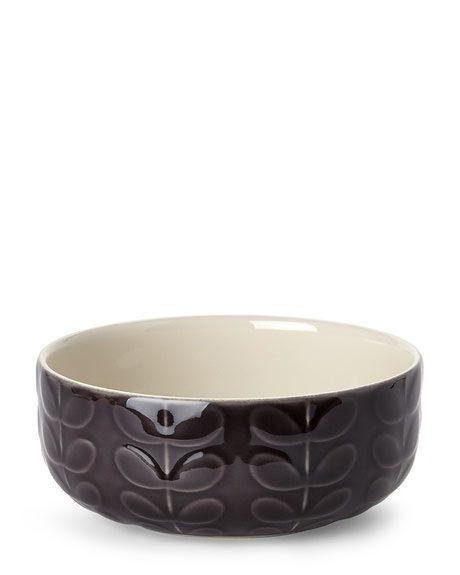 Orla Kiely Charcoal Raised Stem Cereal Bowl